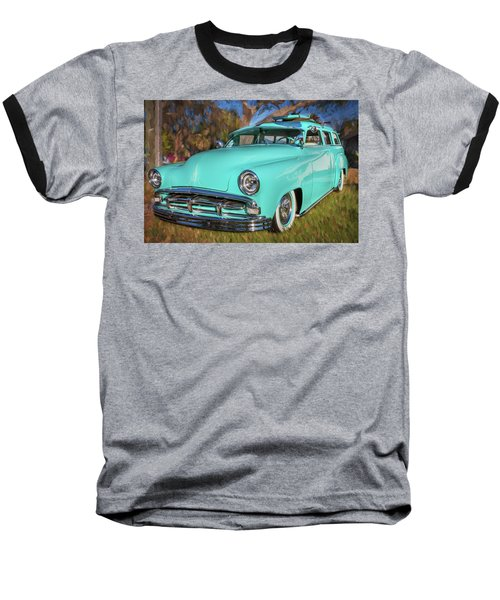 1951 Plymouth Suburban 2 Door Station Wagon 001 Baseball T-Shirt by Rich Franco