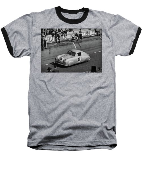 1951 Porsche At Le Mans - Doc Braham - All Rights Reserved Baseball T-Shirt