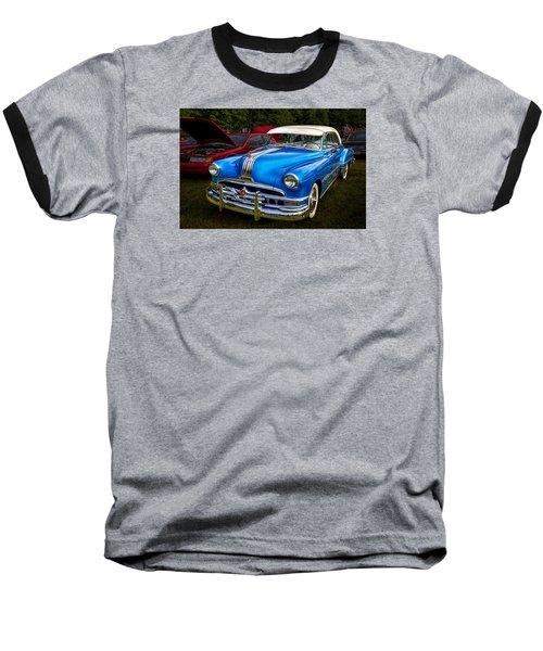1952 Blue Pontiac Catalina Chiefton Classic Car Baseball T-Shirt by Betty Denise