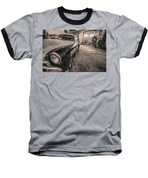 1952 Chevy Black And White Baseball T-Shirt by Kathy Adams Clark