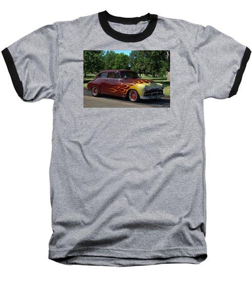 1952 Plymouth Concord Custom Baseball T-Shirt by Tim McCullough
