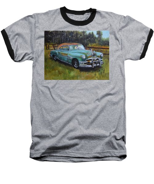 Baseball T-Shirt featuring the painting 1952 Pontiac Chieftain  by Sandra Nardone