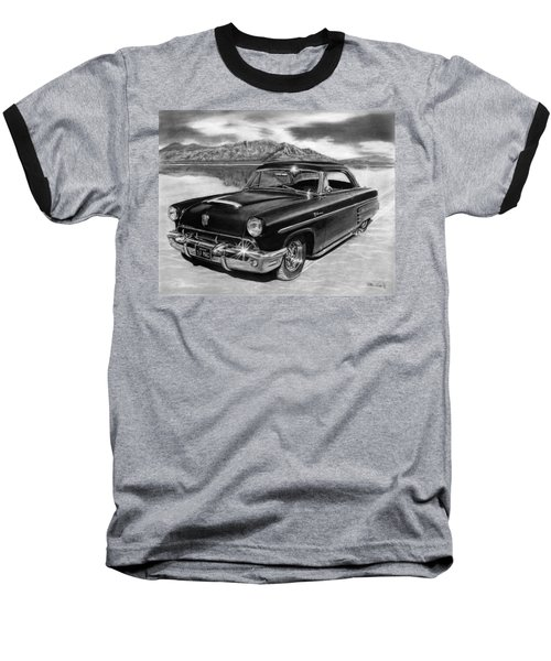 1953 Mercury Monterey On Bonneville Baseball T-Shirt