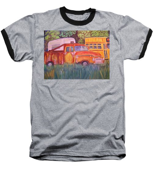 1954 Gmc Wrecker Truck Baseball T-Shirt by Belinda Lawson
