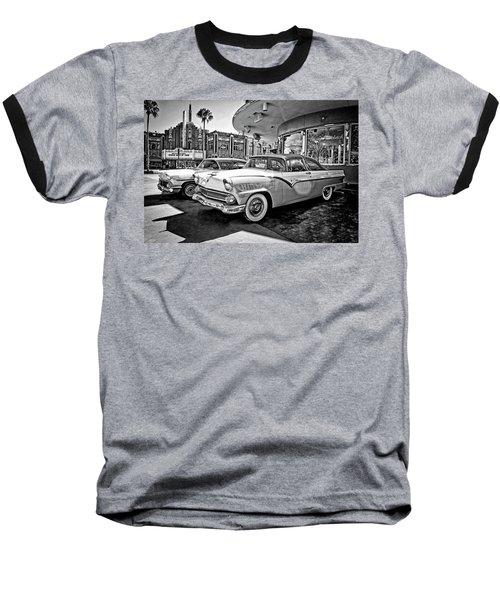 1955 Fairlane Crown Victoria Bw Baseball T-Shirt