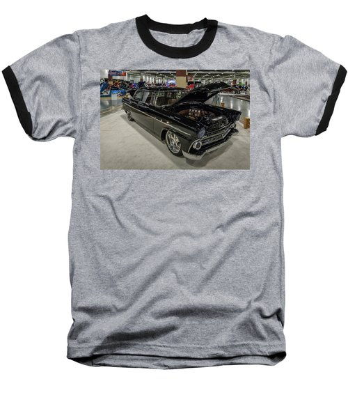 1955 Ford Customline Baseball T-Shirt by Randy Scherkenbach