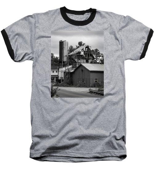 Baseball T-Shirt featuring the photograph 1955 Redi-mix Cement Plant by Betty Denise