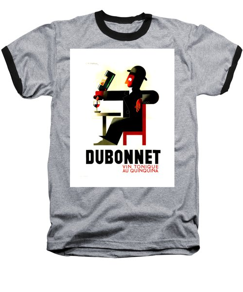1956 Dubonnet Poster II By Adolphe Mouron Cassandre Baseball T-Shirt by Peter Gumaer Ogden Collection