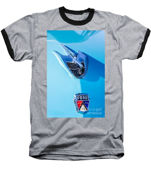 Baseball T-Shirt featuring the photograph 1956 Ford Hood Ornament by Aloha Art