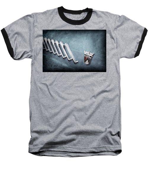 Baseball T-Shirt featuring the photograph 1956 Ford Thunderbird Emblem -0052ac by Jill Reger