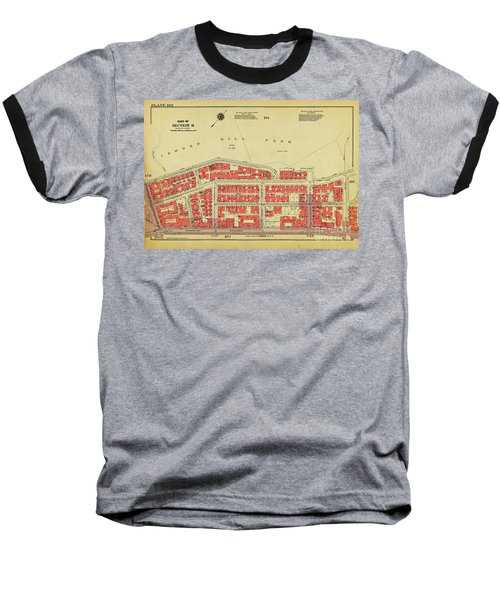 Baseball T-Shirt featuring the photograph 1956 Inwood Map  by Cole Thompson