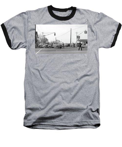 1957 Car Accident Baseball T-Shirt