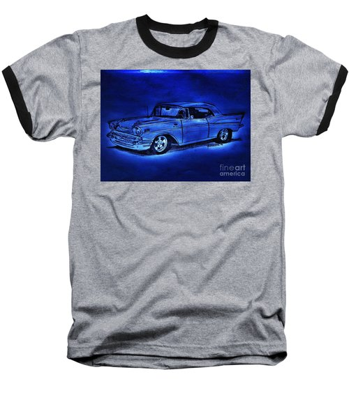 1957 Chevy Bel Air - Moonlight Cruisin  Baseball T-Shirt