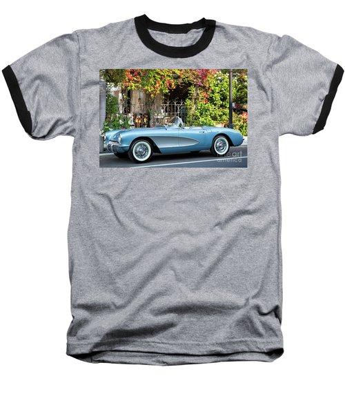 Baseball T-Shirt featuring the photograph 1957 Corvette by Brian Jannsen