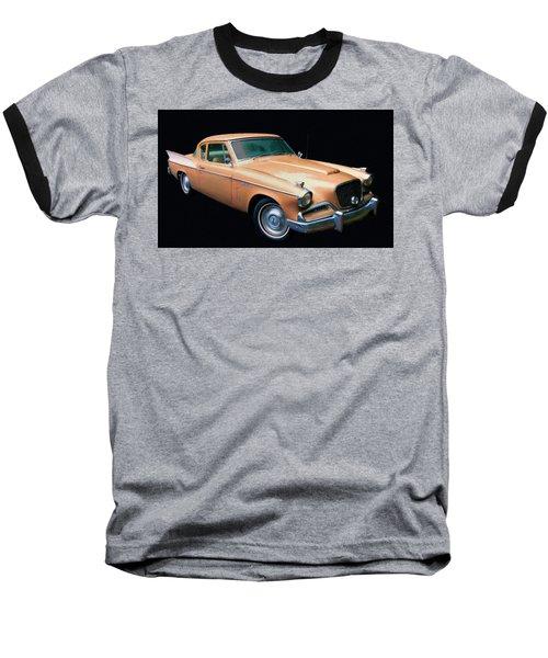 1957 Studebaker Golden Hawk Digital Oil Baseball T-Shirt