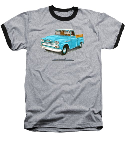Apache Pick Up Truck Baseball T-Shirt by Jack Pumphrey