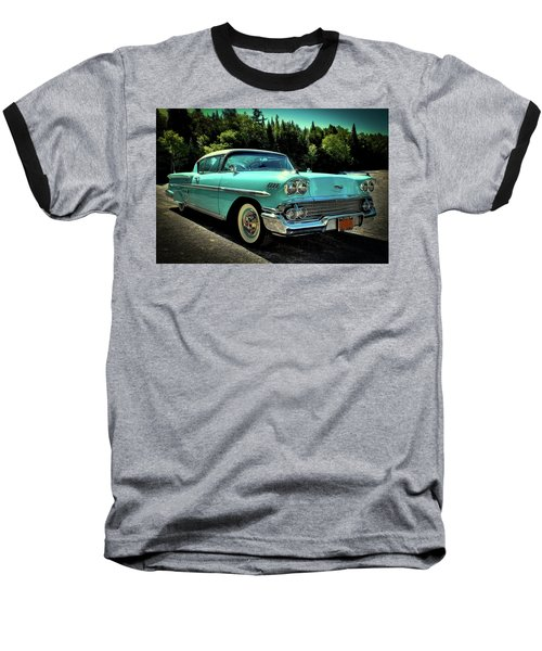 1958 Chevrolet Impala Baseball T-Shirt