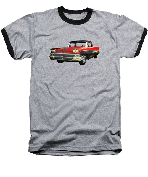 1958 Ford Ranchero Watercolour Baseball T-Shirt