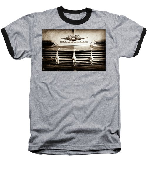 Baseball T-Shirt featuring the photograph 1959 Chevrolet Impala Grille Emblem -1014s by Jill Reger