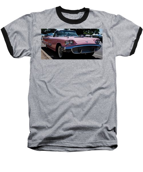 1959 Ford Thunderbird Convertible Baseball T-Shirt by Joann Copeland-Paul