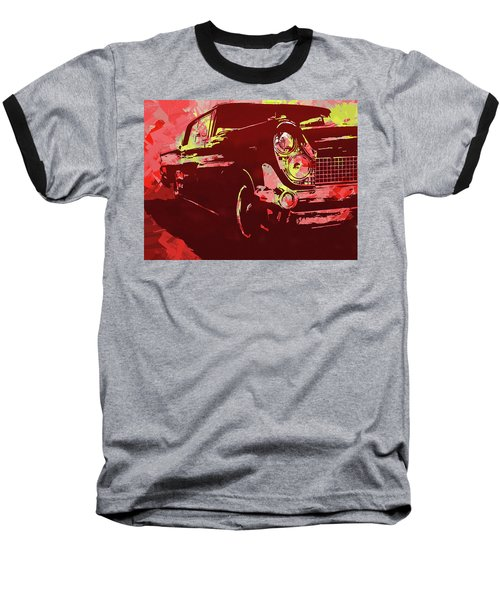 1959 Lincoln Continental Red Pop Baseball T-Shirt