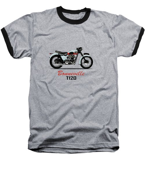 1959 T120 Bonneville Baseball T-Shirt by Mark Rogan
