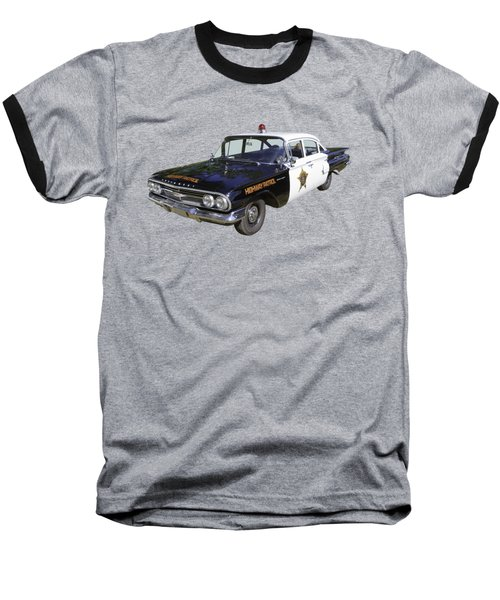 1960 Chevrolet Biscayne Police Car Baseball T-Shirt