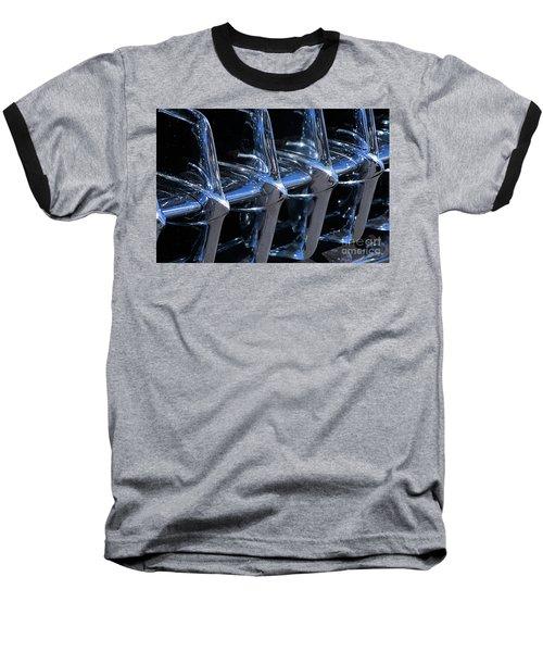 1960 Chevy Corvette Grill Abstract Baseball T-Shirt