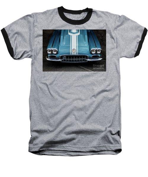 Baseball T-Shirt featuring the photograph 1960 Corvette by M G Whittingham