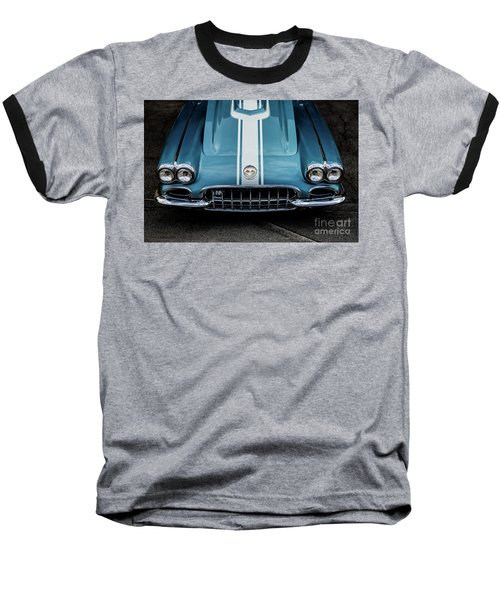 1960 Corvette Baseball T-Shirt