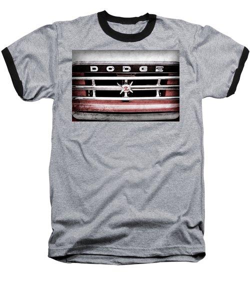 Baseball T-Shirt featuring the photograph 1960 Dodge Truck Grille Emblem -0275ac by Jill Reger