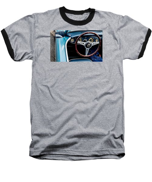 Baseball T-Shirt featuring the photograph 1961 Austin Healey 3000 by M G Whittingham