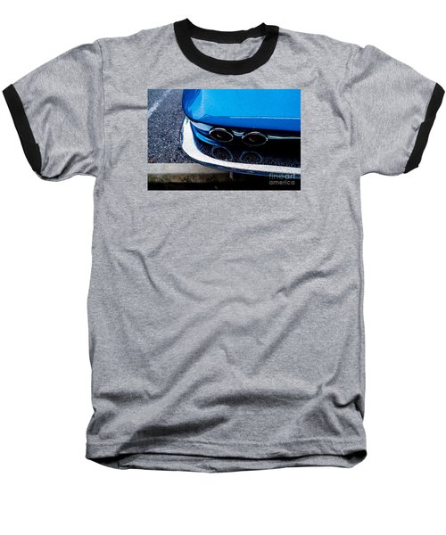 Baseball T-Shirt featuring the photograph 1965 Corvette Sting Ray by M G Whittingham