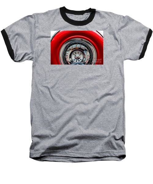 Baseball T-Shirt featuring the photograph 1958 Ford Crown Victoria Wheel by M G Whittingham