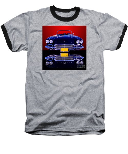 1961 Chevy Corvette Baseball T-Shirt by Jim Carrell
