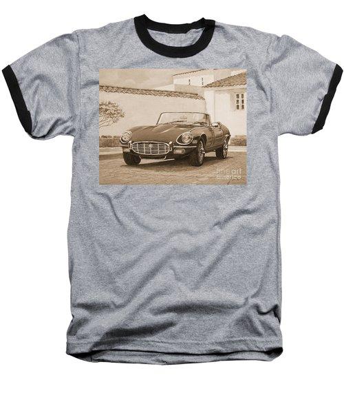 1961 Jaguar Xke Cabriolet In Sepia Baseball T-Shirt