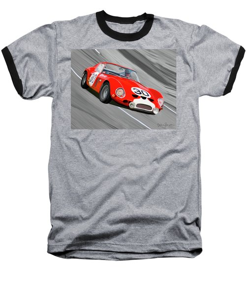 1962 Ferrari 250 Gto Baseball T-Shirt by Wally Hampton