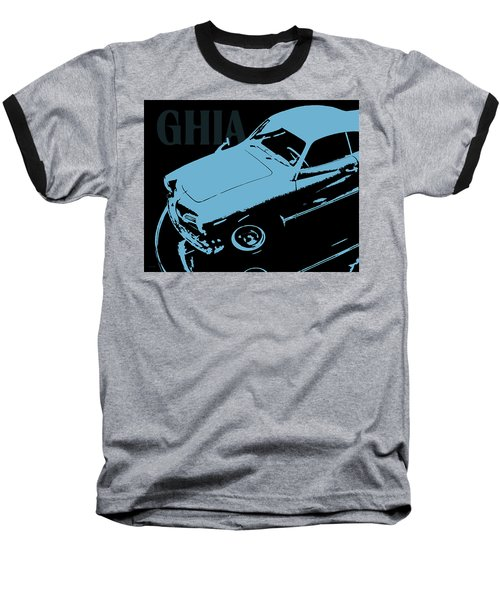 1962 Karmann Ghia Pop Art Blue Baseball T-Shirt