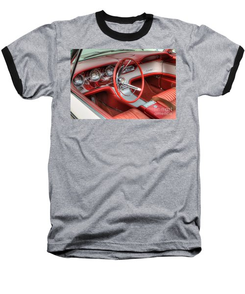 1962 Thunderbird Dash Baseball T-Shirt by Jerry Fornarotto