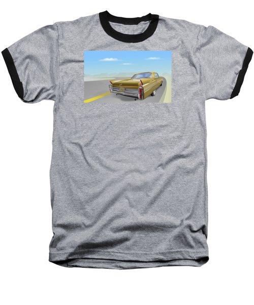 1963 Cadillac De Ville Baseball T-Shirt by Marty Garland