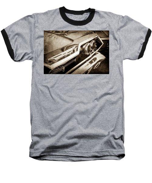Baseball T-Shirt featuring the photograph 1963 Chevrolet Taillight Emblem -0183s by Jill Reger