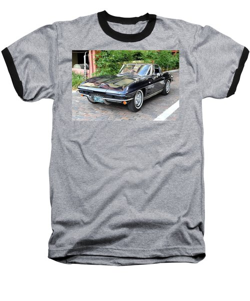 Baseball T-Shirt featuring the photograph 1963 Corvette Split Window Coupe by John Black