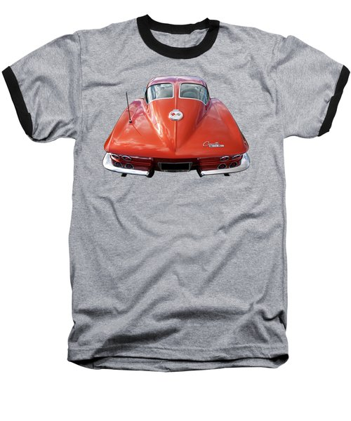1963 Corvette Stingray Split Window Rear Baseball T-Shirt