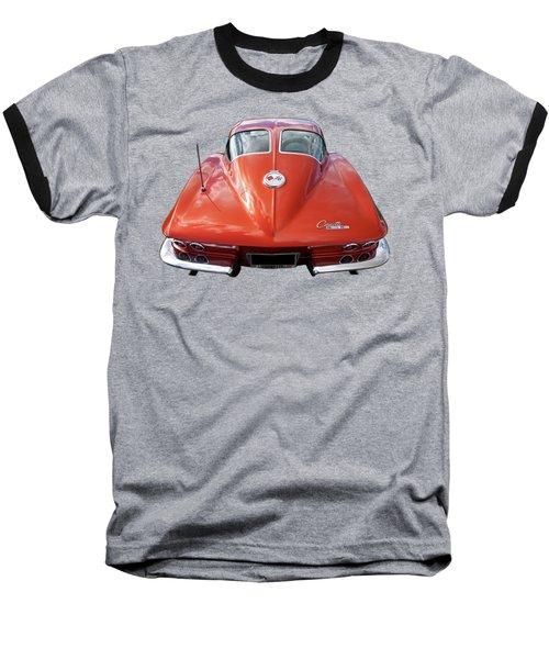 1963 Corvette Stingray Split Window Rear Baseball T-Shirt