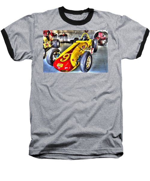 1963 Eddie Sachs Indy Car Baseball T-Shirt by Josh Williams