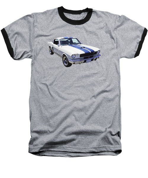 1965 Gt350 Mustang Muscle Car Baseball T-Shirt