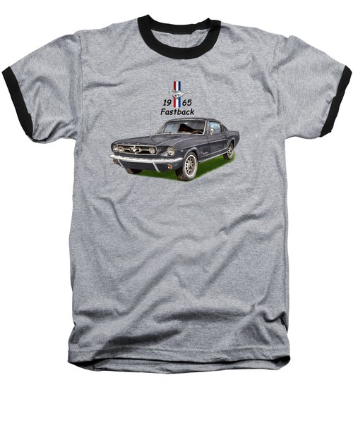 Mustang Fastback 1965 Baseball T-Shirt