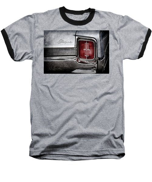 Baseball T-Shirt featuring the photograph 1965 Oldsmobile Starfire Taillight Emblem -0212ac by Jill Reger