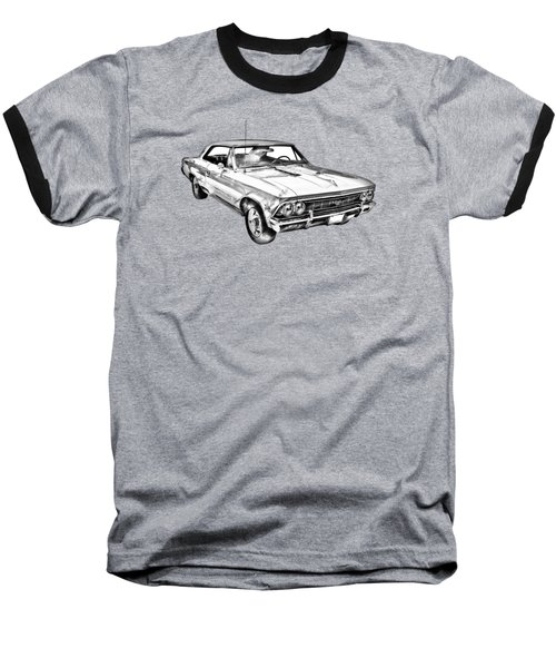 1966 Chevy Chevelle Ss 396 Illustration Baseball T-Shirt