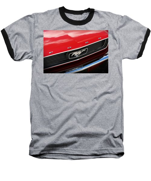 Baseball T-Shirt featuring the photograph 1966 Ford Mustang by Gordon Dean II